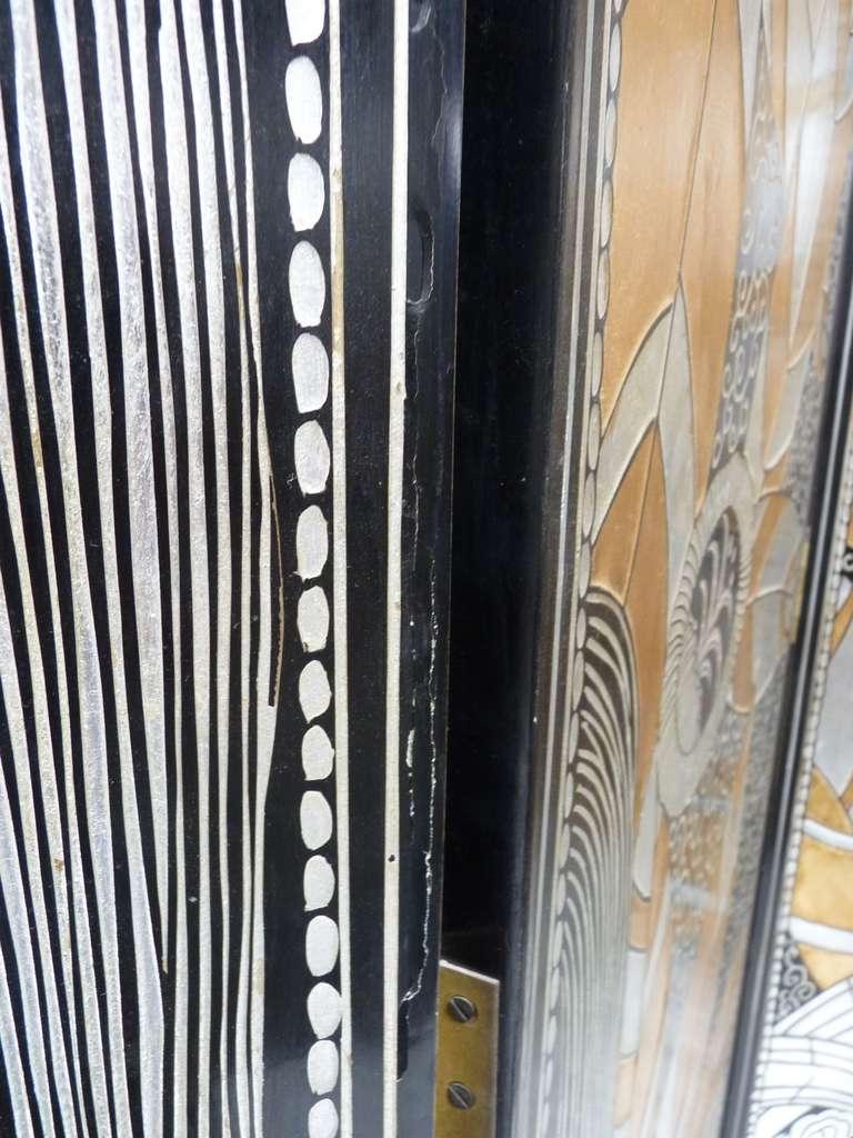 Monumental Art Deco Revival Five Panel Screen After Edgar Brandt image 6