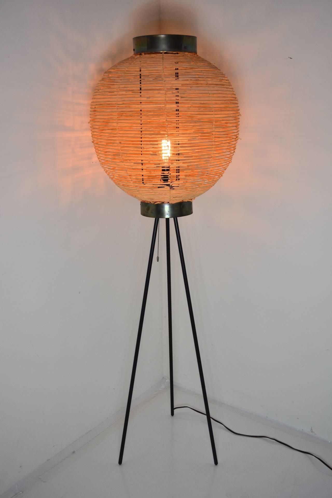 1950s Japanese Tripod Floor Lamp At 1stdibs