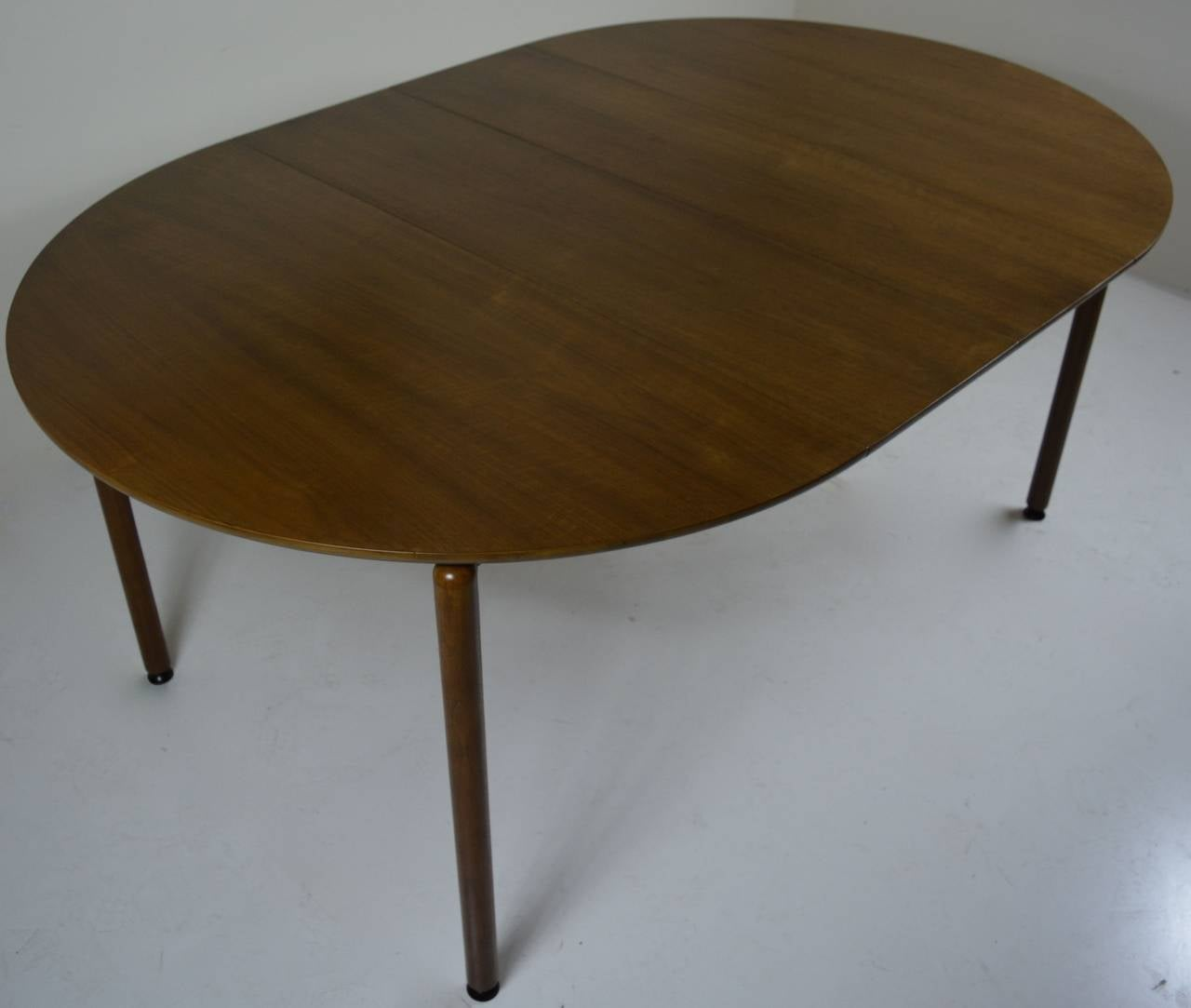 Round dining table by greta grossman two leaves for sale for Dining room table 2 leaves