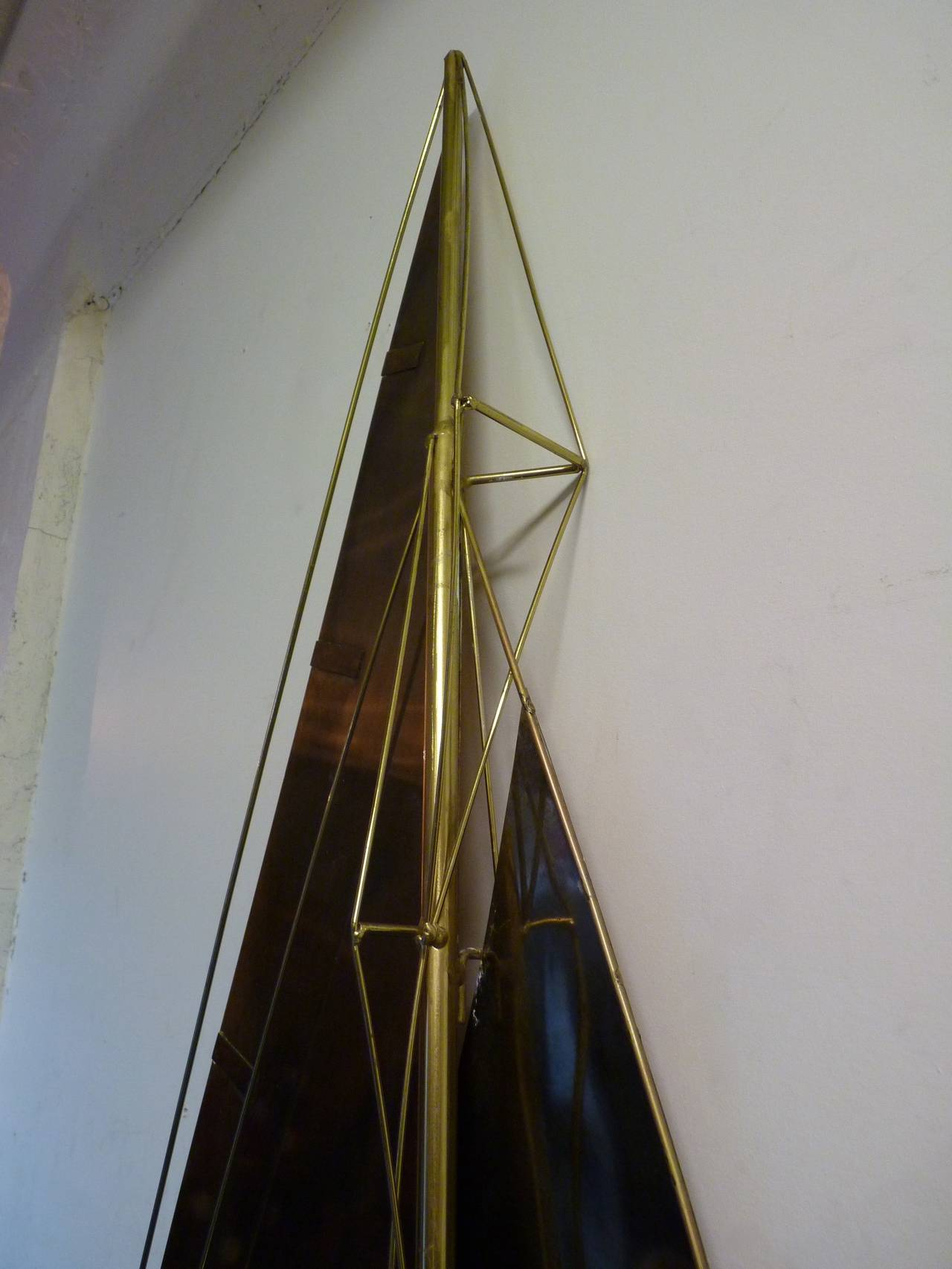 20th Century Sailboat Wall Sculpture by Curtis Jere For Sale