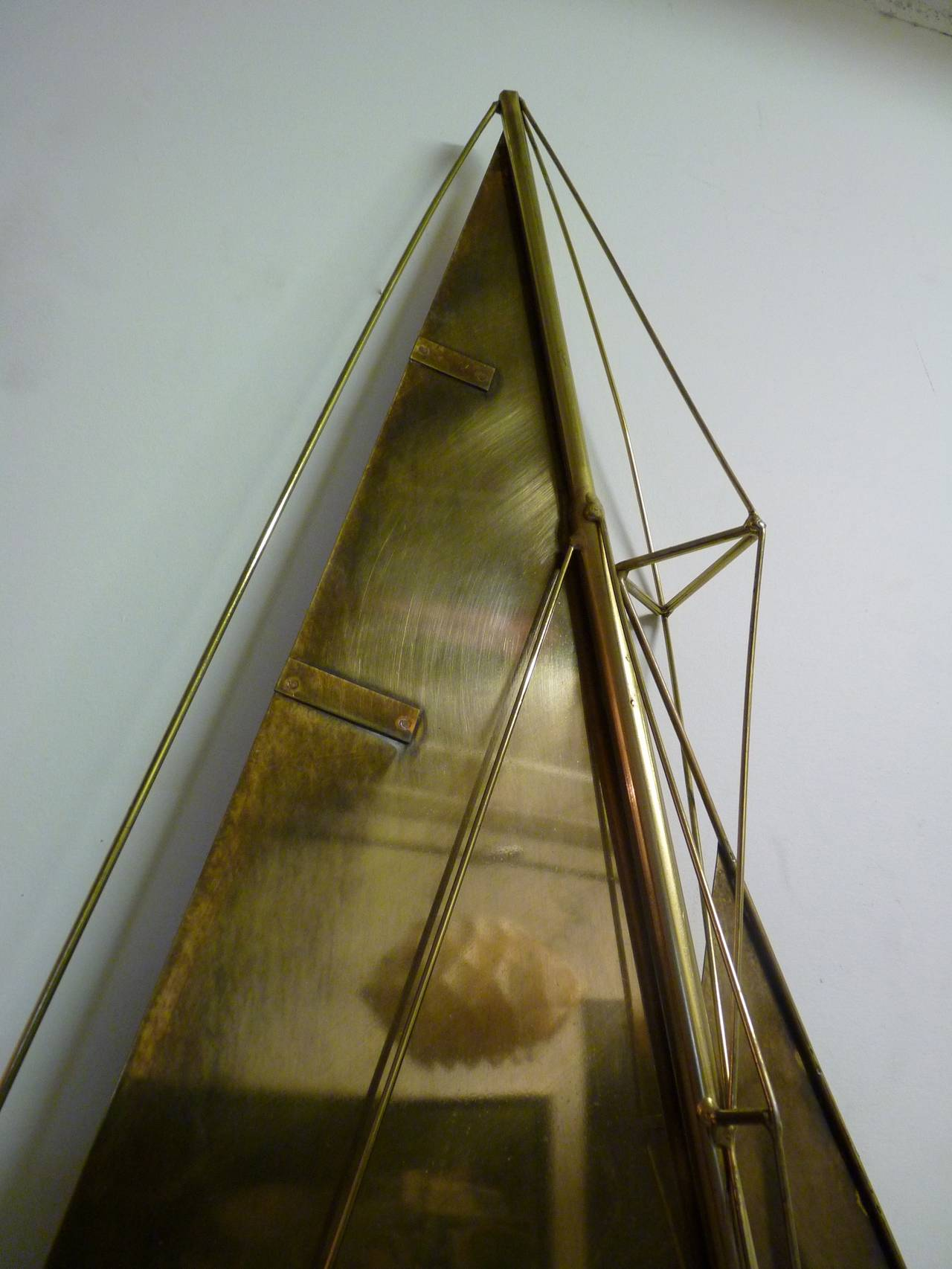 Sailboat Wall Sculpture by Curtis Jere For Sale 1