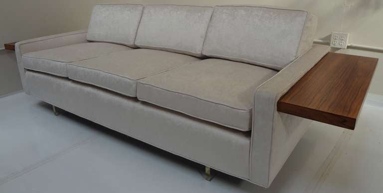 Vladimir Kagan Sofa With Floating Rosewood Tables And