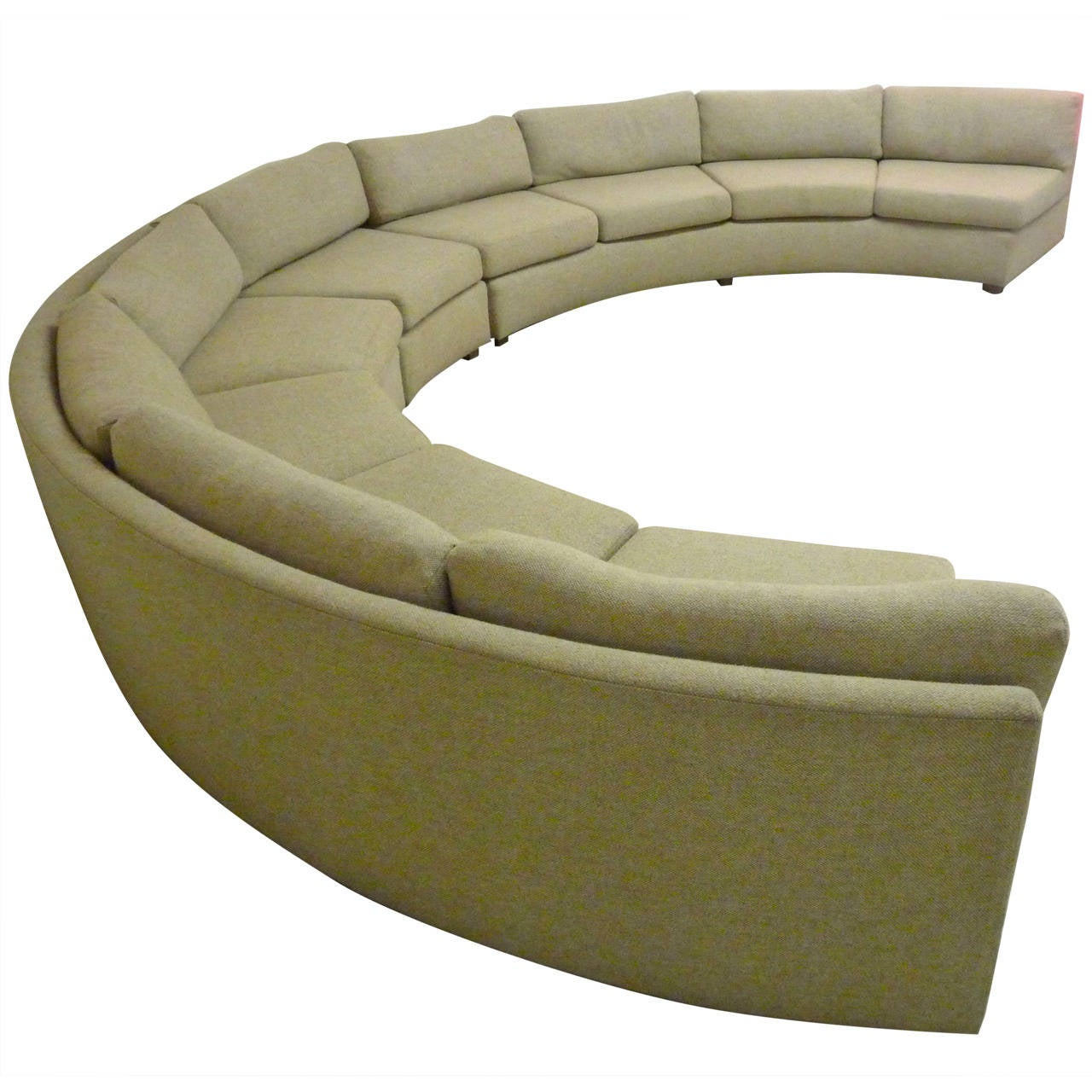 Large, Curved Milo Baughman Sectional Sofa For Sale