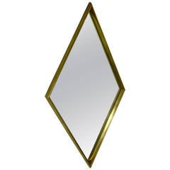 Modern Gold-Leaf Diamond Mirror by La Barge
