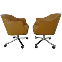 Desk Chairs by Nicos Zographos in Palomino Leather