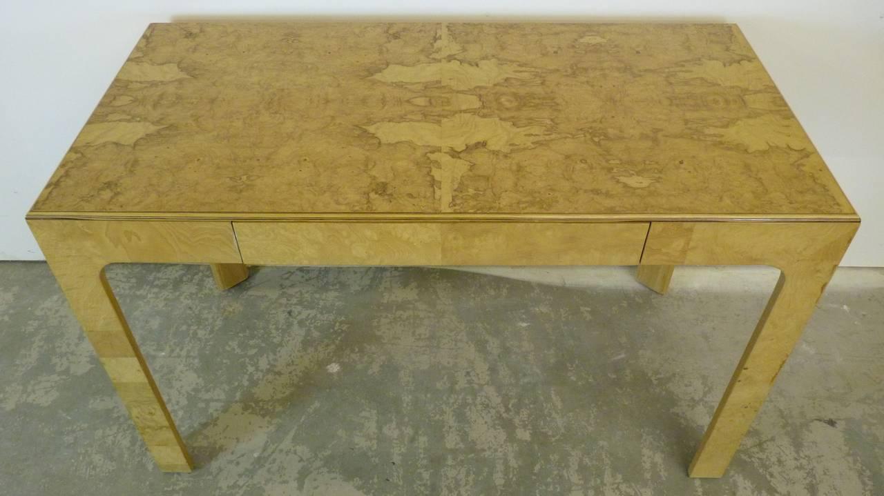 scene two desk by henredon in olive burl at 1stdibs. Black Bedroom Furniture Sets. Home Design Ideas
