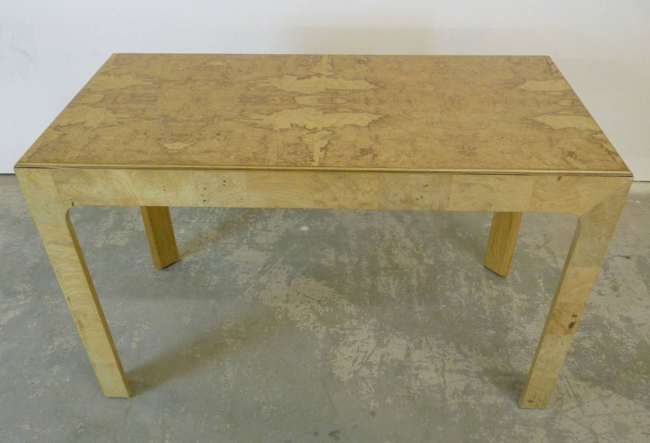 Quot Scene Two Quot Desk By Henredon In Olive Burl At 1stdibs