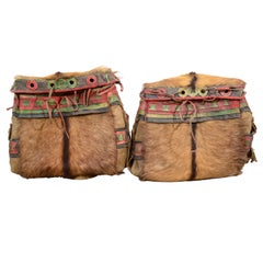 Pair of Antique Tibetan Saddle Bags