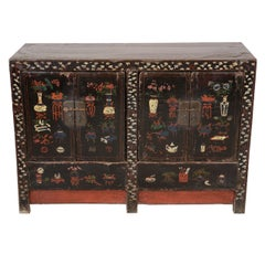Early 19th Century Chinese Painted Double Cabinet