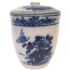 Antique Covered Porcelain Jar