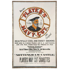 Player's Cigarettes Advertising Mirror
