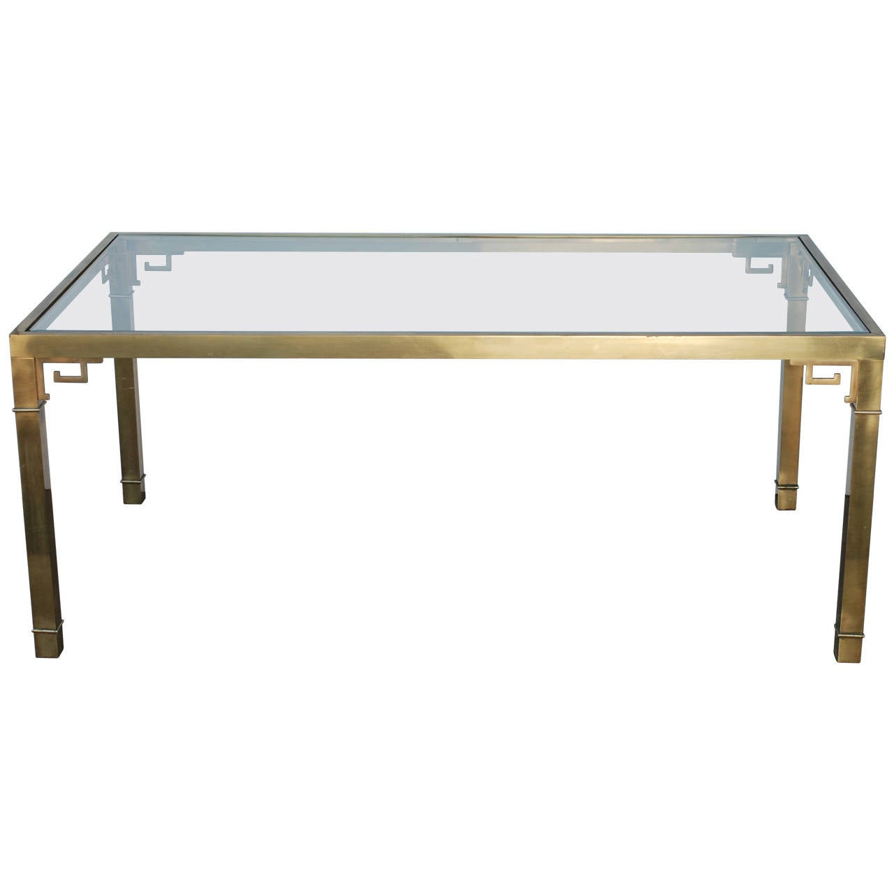 Mastercraft Brass Greek Key Dining Table For Sale At 1stdibs