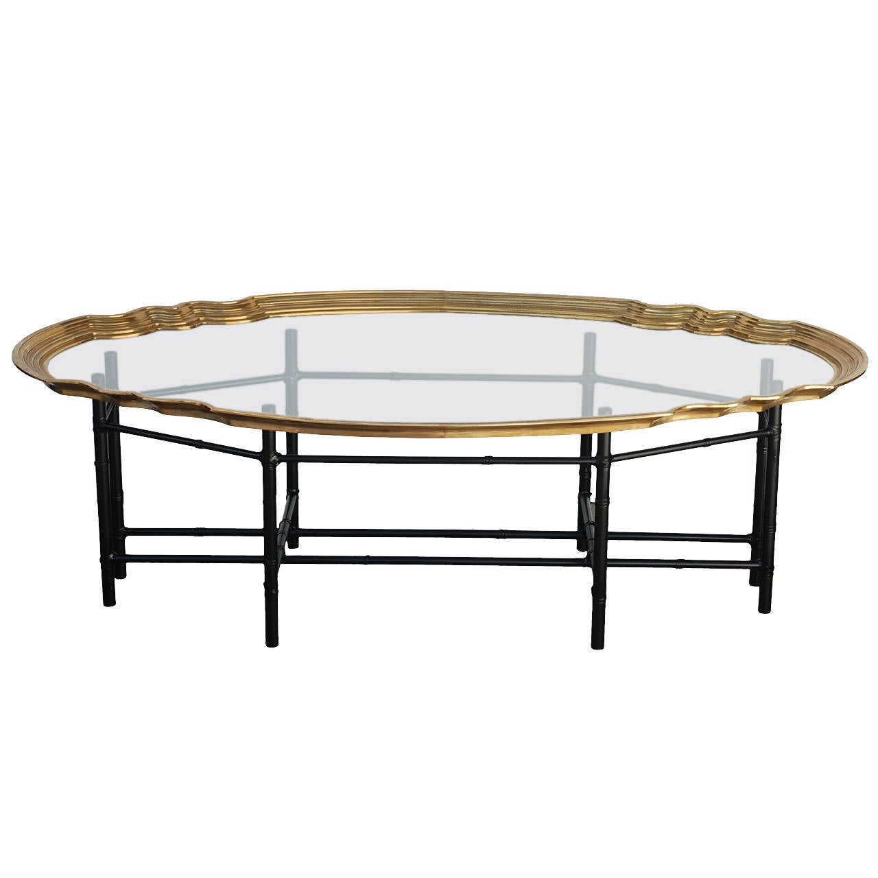 Brass And Glass Tray Coffee Table At 1stdibs