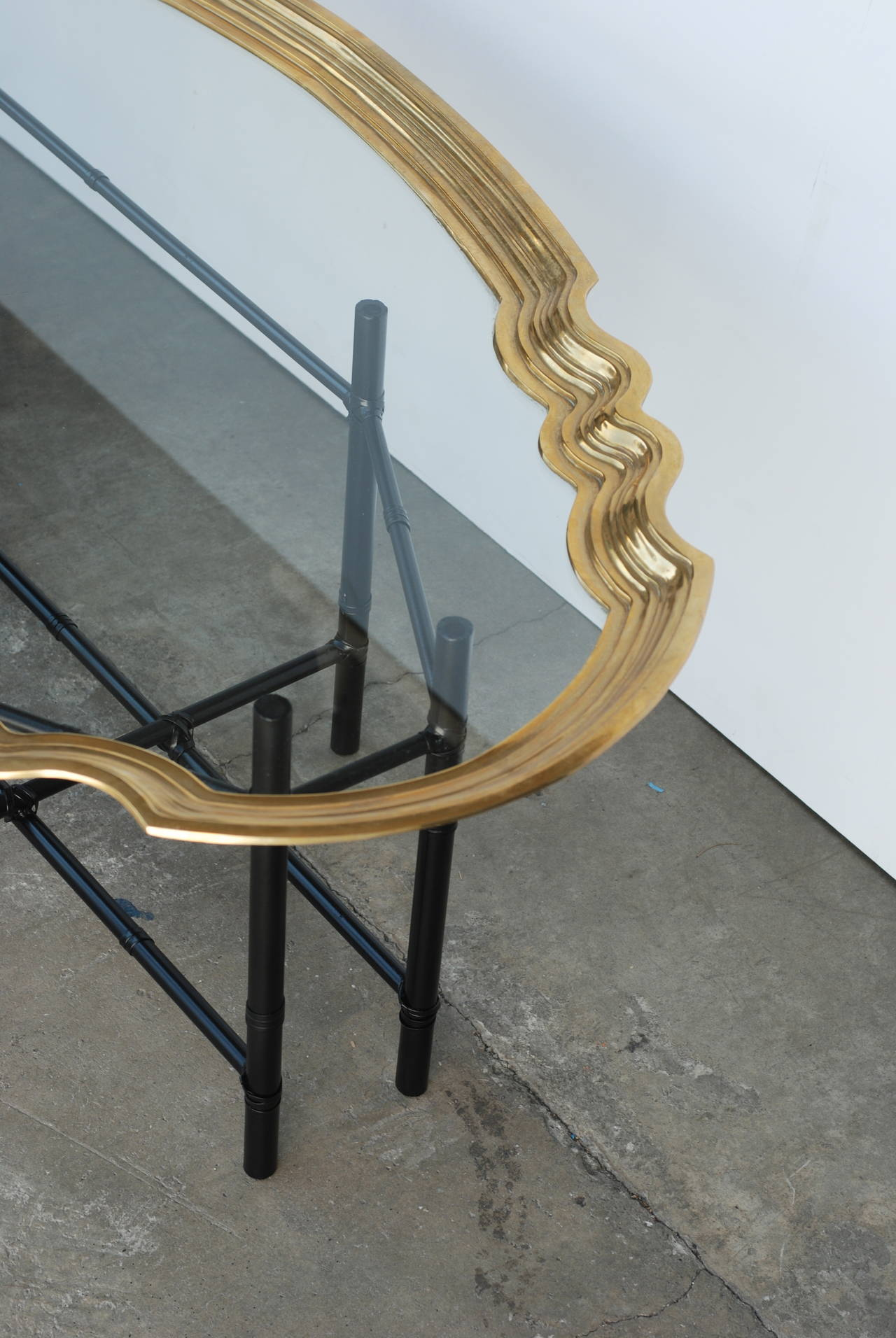 Brass And Glass Tray Coffee Table For Sale At 1stdibs