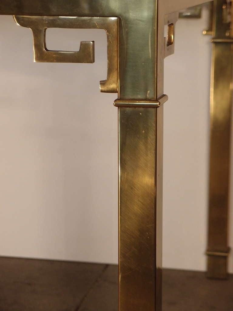 Mastercraft Brass Greek Key Table At 1stdibs