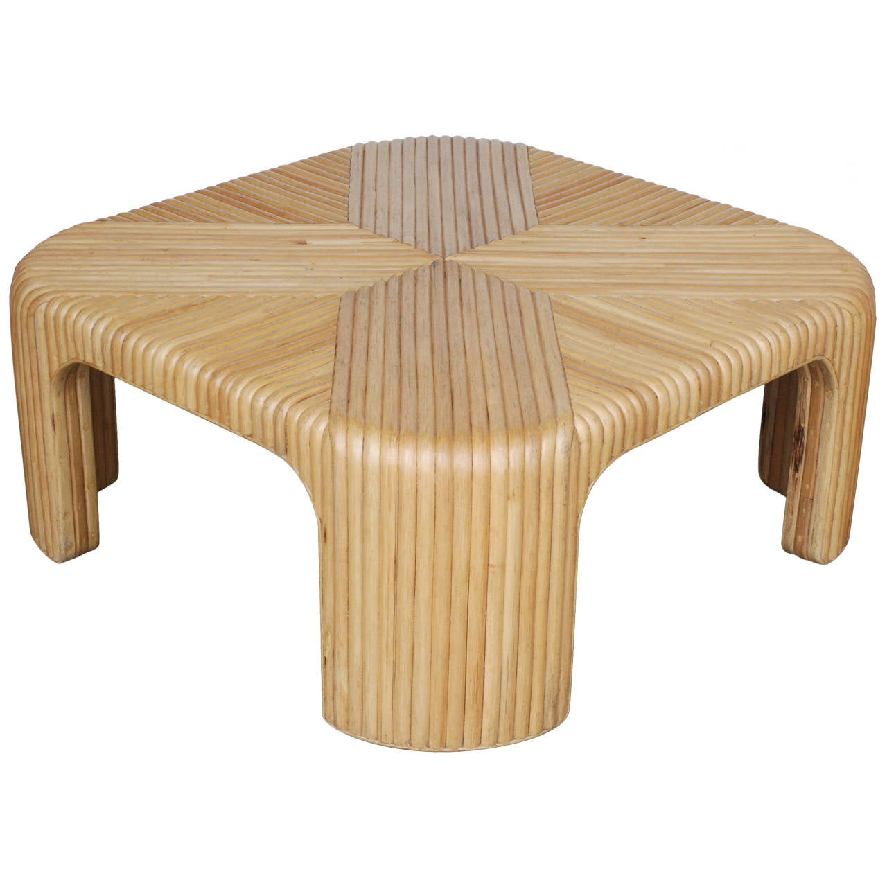 Graphic Rattan Coffee Table For Sale At 1stdibs