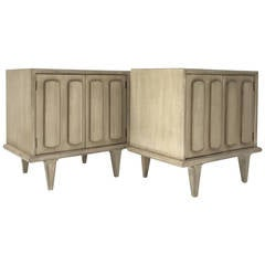 Sculptural Pair of American of Martinsville Nightstands