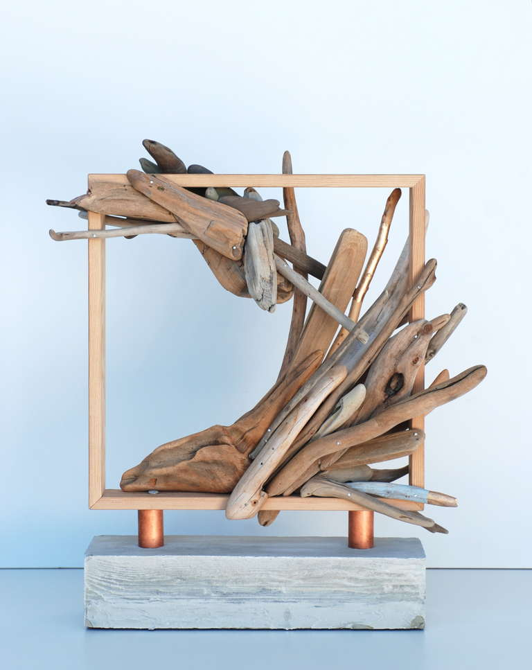 Abstract Wood Sculpture By Richard Hovel At 1stdibs