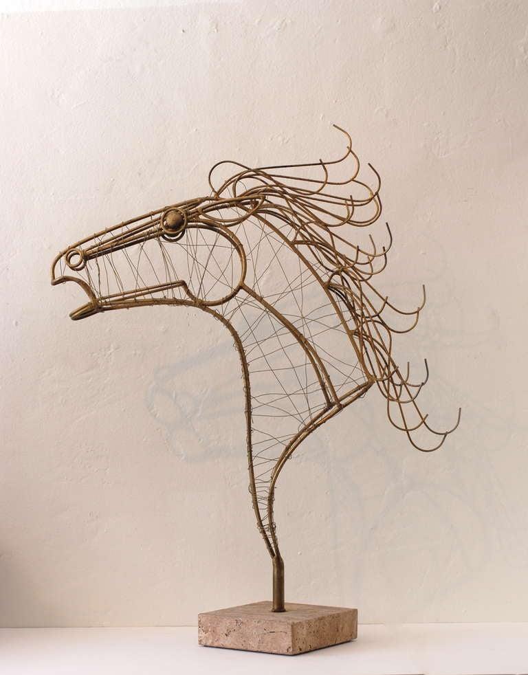 Curtis Jere Horse Head Sculpture 2