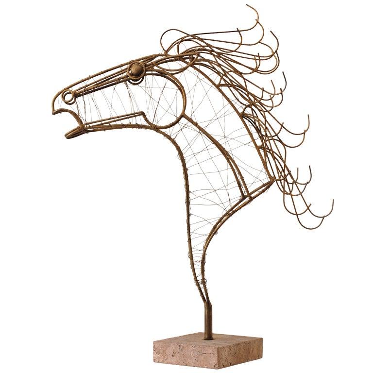 Curtis Jere Horse Head Sculpture