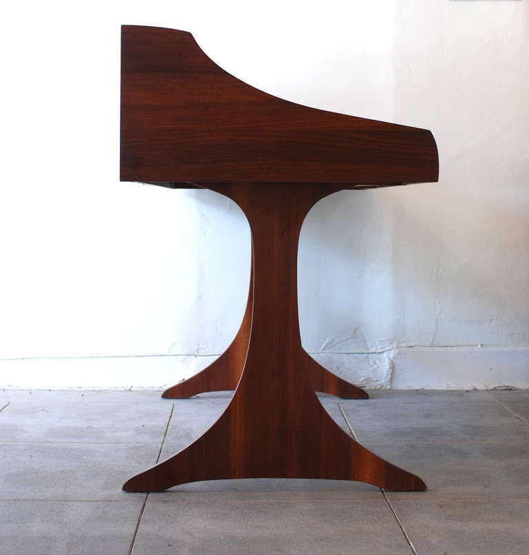 Mid Century American Walnut Desk by Kroehler at 1stdibs
