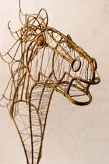 Curtis Jere Horse Head Sculpture image 4