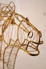 Curtis Jere Horse Head Sculpture image 5