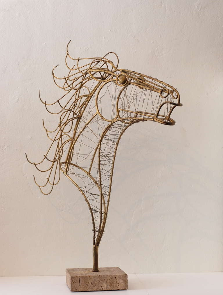 Curtis Jere Horse Head Sculpture 3