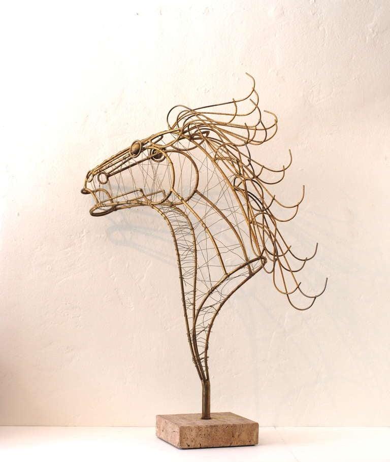 Curtis Jere Horse Head Sculpture 6