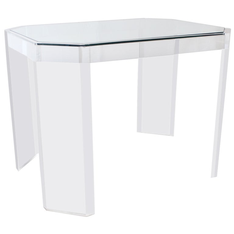 Charles Hollis Jones Lucite Acrylic Side Table At 1stdibs
