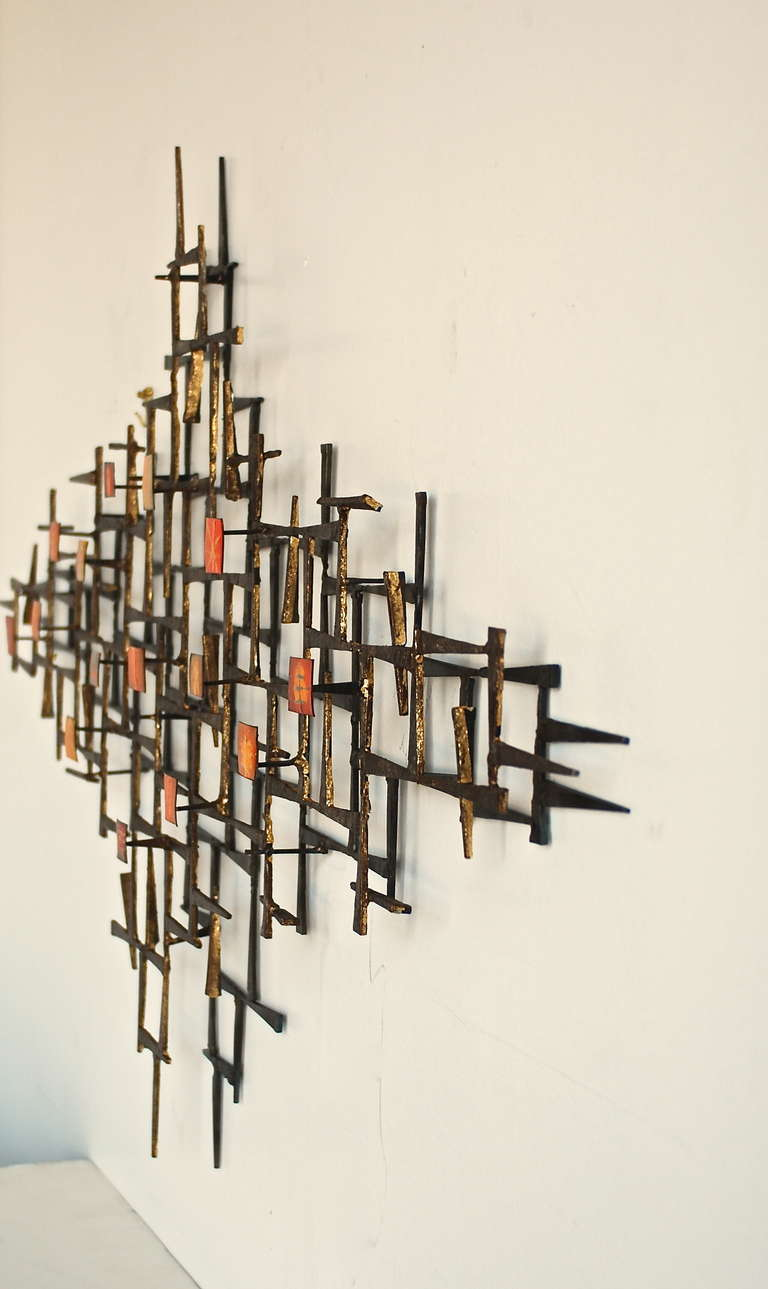 Metal Wall Sculpture abstract metal wall sculpture at 1stdibs