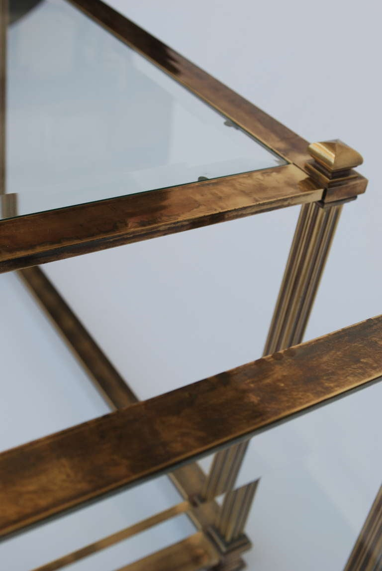 Pair of Mastercraft Antique Brass End Tables 5