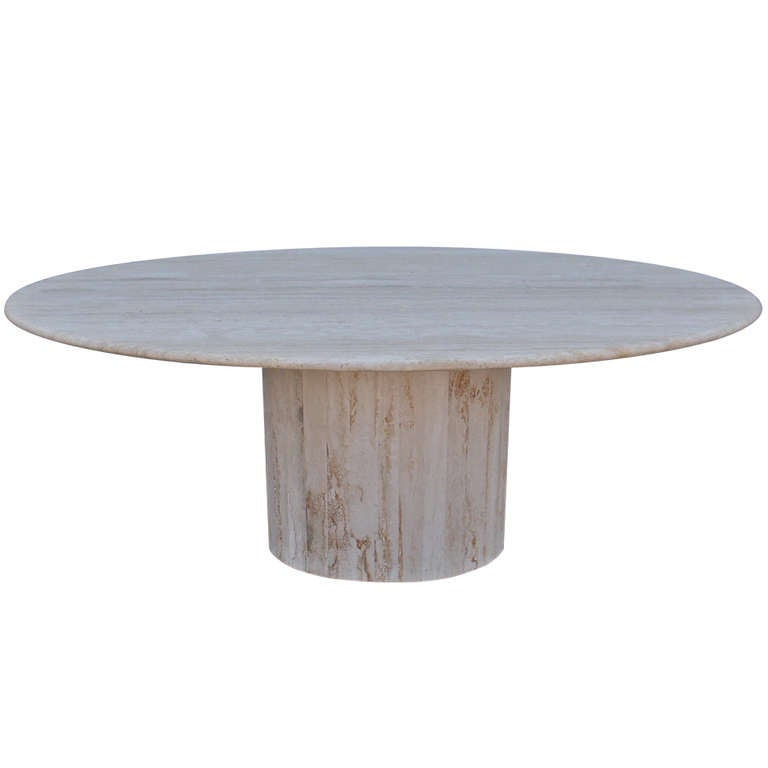 oval travertine dining table at 1stdibs