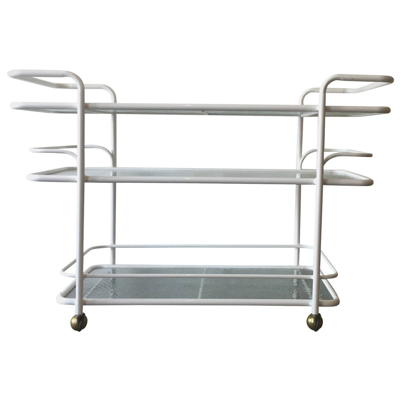 brown patio bar cart by tadao e inouyer in white