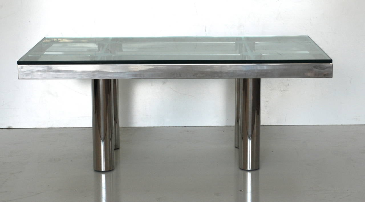 Tobia Scarpa Style Rectangular Coffee Or Cocktail Table At