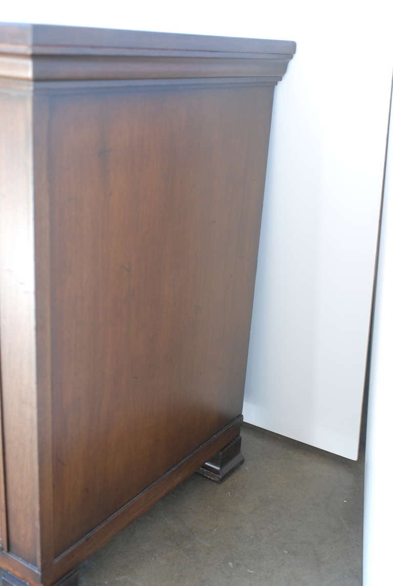 John Widdicomb Furniture For Sale Walnut Credenza with Relief Panels For Sale at 1stdibs