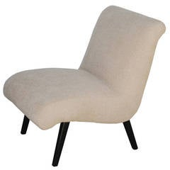 Slipper chair in style of Jens Risom