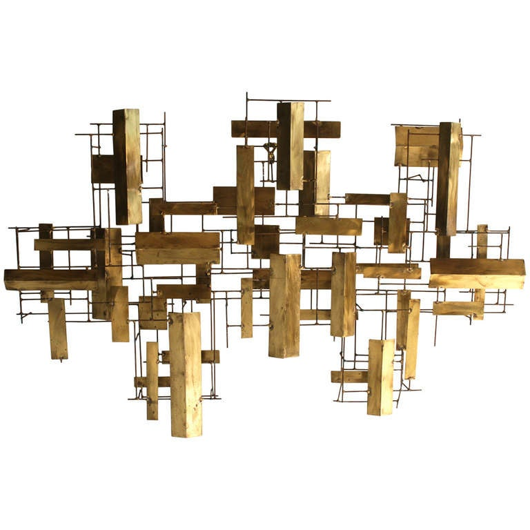 Abstract Metal Wall Sculpture At 1stdibs