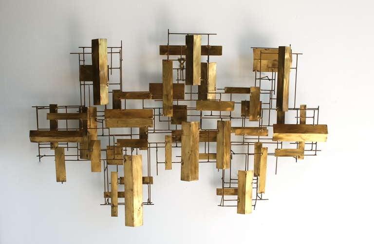 Mid Century Modern Metal Wall Art Interior Design