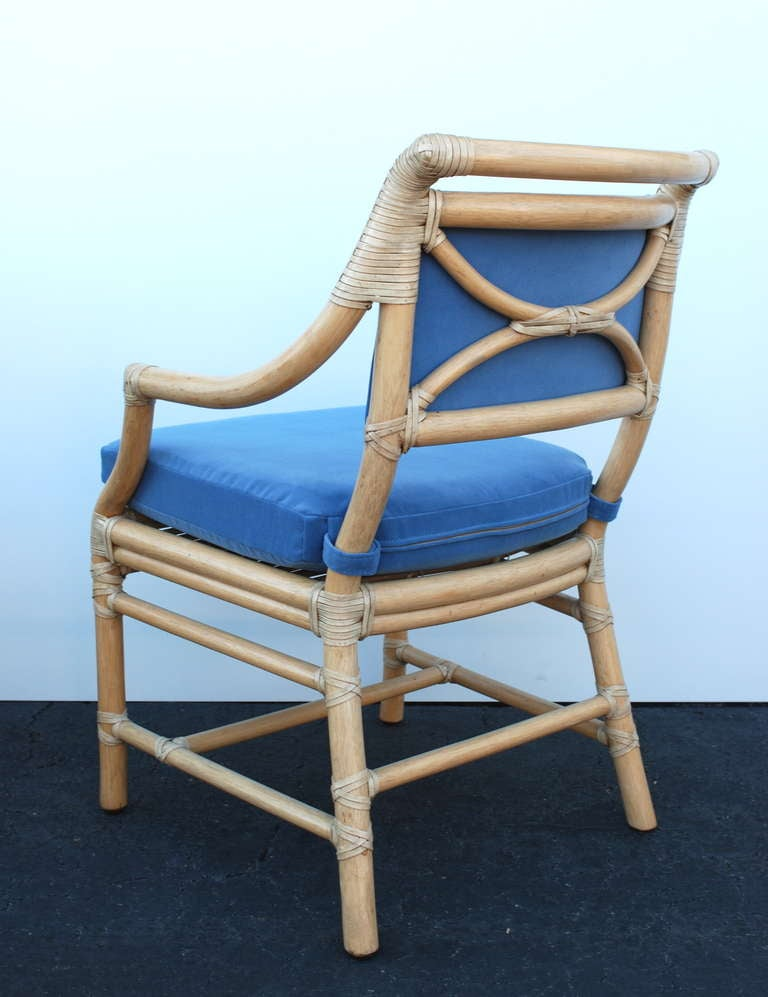 Set Of Six Mcguire Bamboo Dining Chairs At 1stdibs