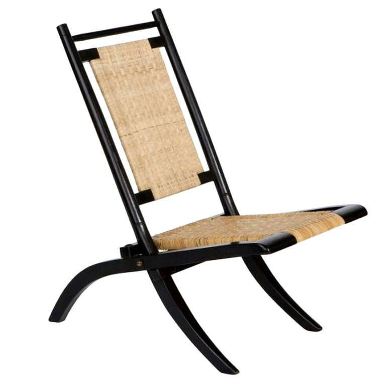 Missoni Home Outdoor Folding Chair Regista: Ebonised Mahogany Folding Chair By E W Godwin At 1stdibs
