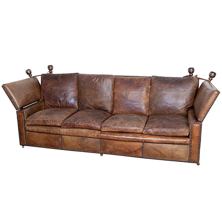 leather knole sofa at 1stdibs