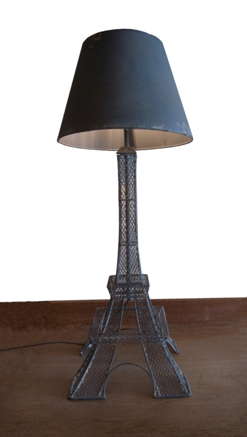 eiffel tower 39 lamp french circa 1900 at 1stdibs. Black Bedroom Furniture Sets. Home Design Ideas