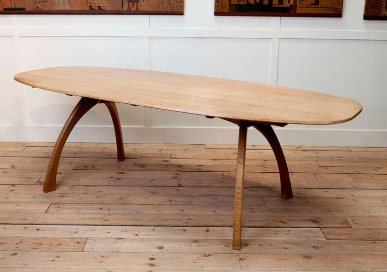arts and crafts oval ash dining table at 1stdibs