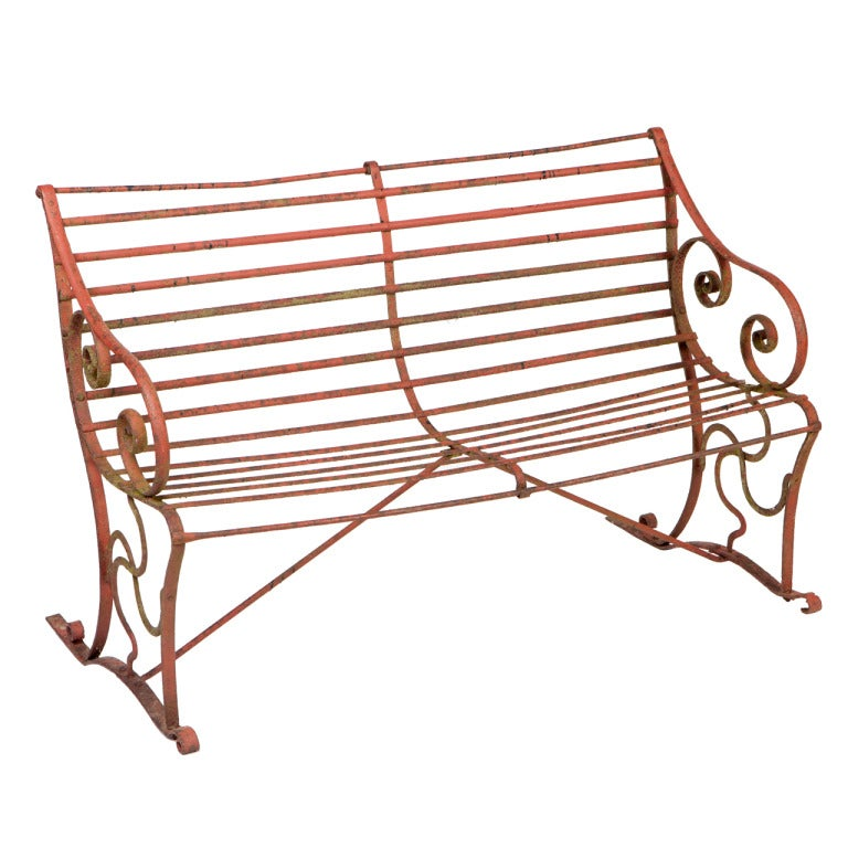 Regency Wrought Iron Garden Bench At 1stdibs