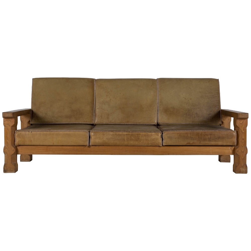 arts and crafts style loveseat