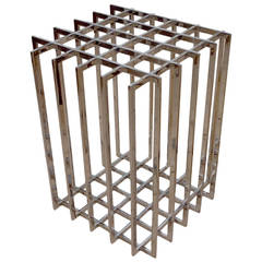 Sculptural Grid Chrome Table Base by Pierre Cardin, 1970s