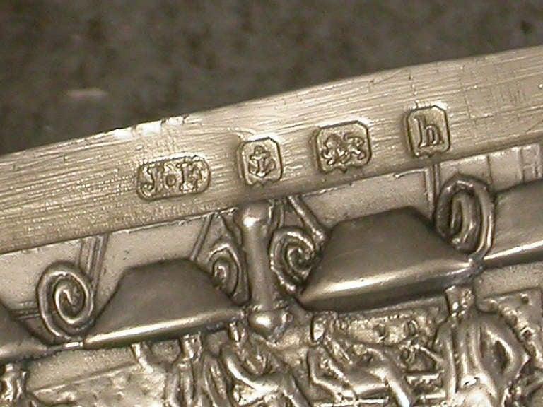 Rare Edwardian Documentary Silver Billiards Vesta Case For Sale 1