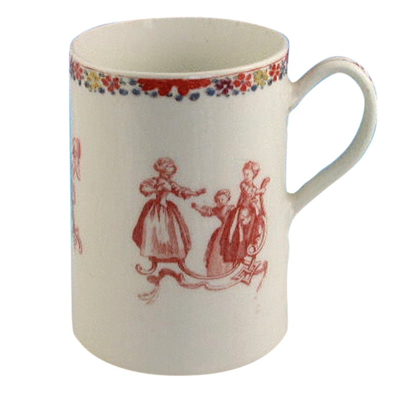 Bow Mug Children's Games Blind Mans Buff circa 1755-1756 For Sale