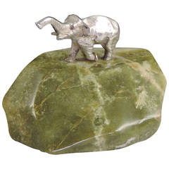 Edwardian Novelty Silver Elephant Paperweight